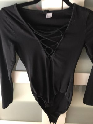 H&M Shirtbody zwart