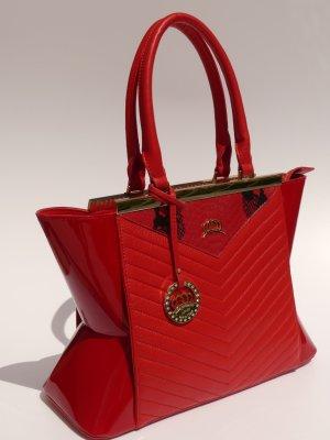 Handbag red leather