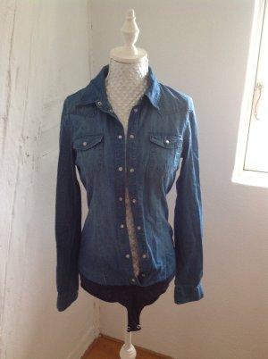 Body- Jeansbluse von Vero Moda Gr. S