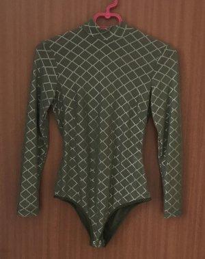 Body khaki Grün Gr. 36 S Naanaa Asos Shirt Langarm NEU!