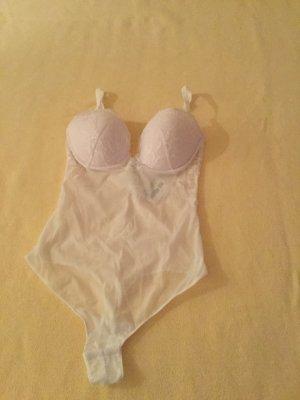 La perla Pantalone pigiama bianco Lycra