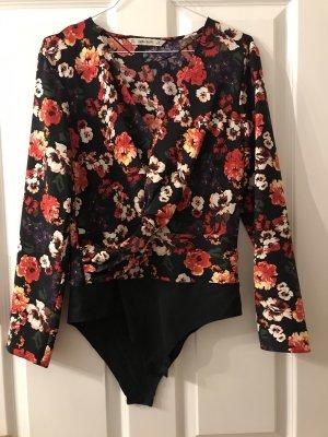 Zara Basic Bodyblouse veelkleurig Polyester