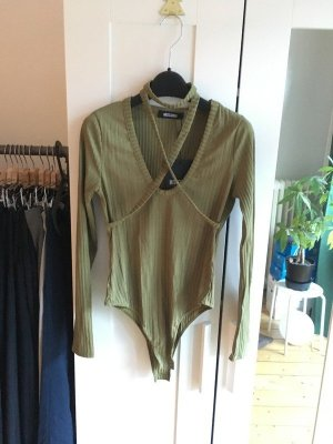 Missguided Shirt Body green grey-olive green mixture fibre