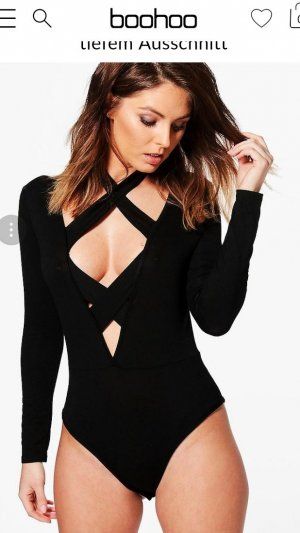 Boohoo Cut Out Top black