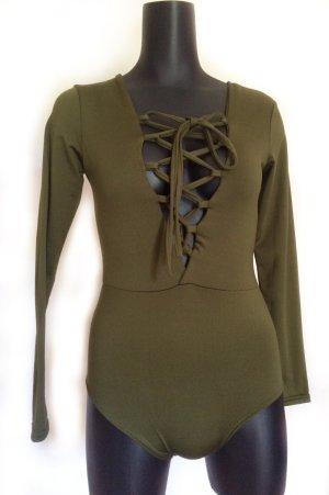 Shirt Body green grey polyester