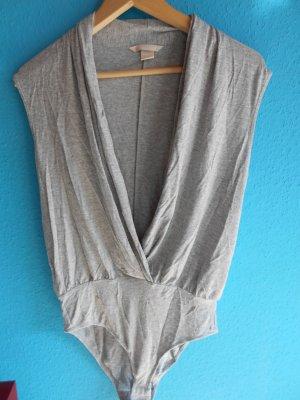 H&M Top collo ad anello grigio chiaro-grigio
