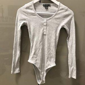 Primark Camisa acanalada gris claro