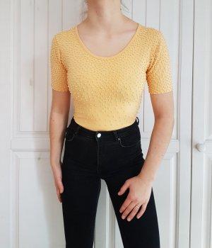 Body top shirt tshirt t-shirt beige nude bluse hemd croptop crop pulli pullover sweater hoodie