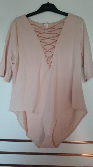 H&M Shirt Body dusky pink-pink