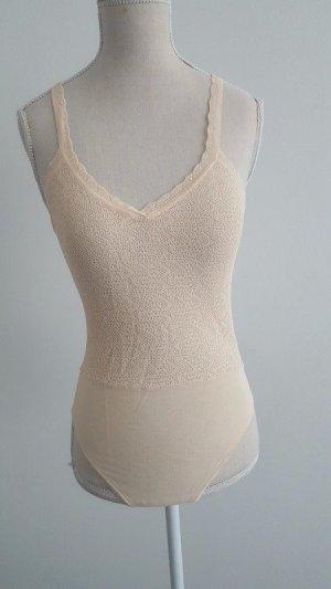 Zara Camisa acanalada nude-crema