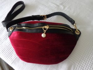 Mint&berry Bumbag black-brick red imitation leather