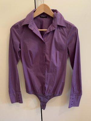 Sisley Blusa tipo body violeta azulado