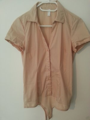 Vero Moda Bodysuit Blouse nude cotton