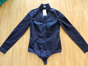 Mango Bodysuit Blouse dark blue