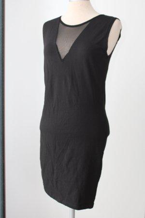 Bodycon Kleid Etuikleid schwarz Gr. 38 S M mit Netz Minikleid Baumwollmischung gothic Partykleid