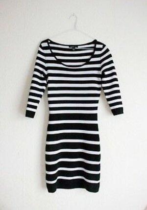 Mango Suit Gebreide jurk wit-zwart
