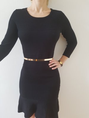 Bodycon Strickkleid 34 36 XS S schwarz knit Mini Kleid Longpullover Longpulli Tunika Longshirt Top