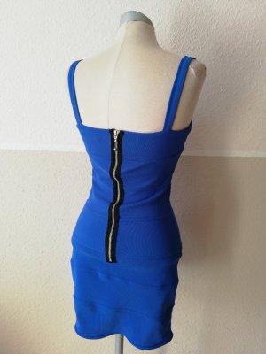 bodyconkleid blau schwarz Minikleid Gr. UK 8 EUR 36 S Stretchkleid neu