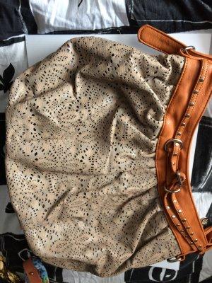 Comprador marrón grisáceo-coñac Imitación de cuero
