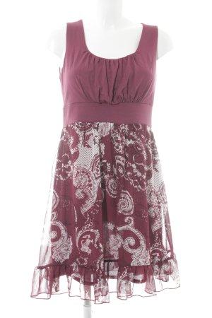 Bodyflirt A-Linien Kleid violett-weiß Elegant