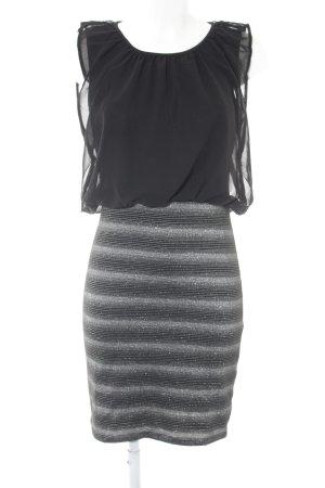 Bodyflirt Abito blusa nero-argento motivo a righe elegante