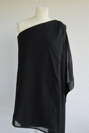 Bodyflirt Vestido de un hombro negro Poliéster