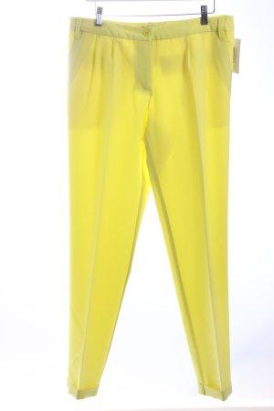 Bodyflirt Bundfaltenhose gelb