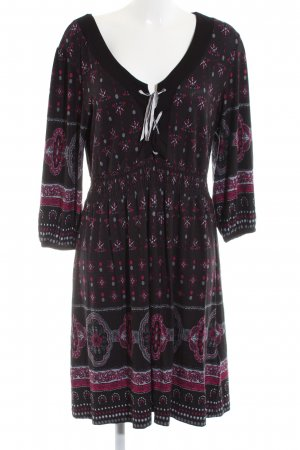 Bodyflirt Jersey Dress red-pink abstract pattern casual look