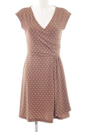 Bodyflirt Jerseykleid braun-weiß Punktemuster Casual-Look