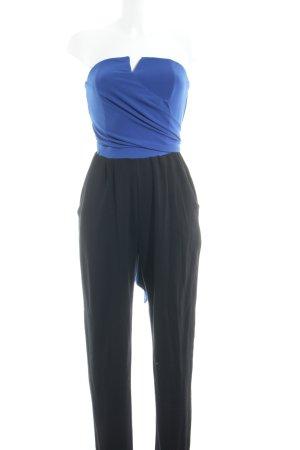Bodyflirt Jumpsuit zwart-blauw elegant