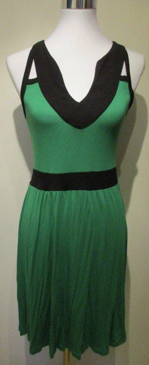 Bodyflirt Cut out jurk groen-zwart Viscose