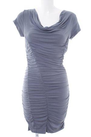 Bodyflirt Kurzarmkleid graublau klassischer Stil