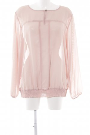 Bodyflirt Langarm-Bluse rosa Business-Look