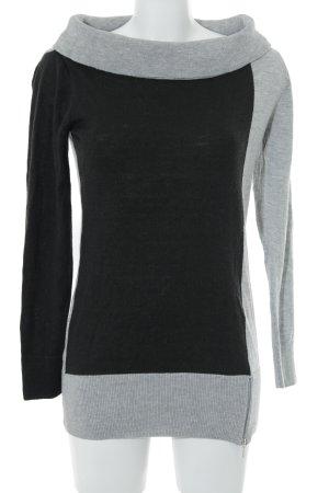 Bodyflirt Longpullover schwarz-grau Casual-Look