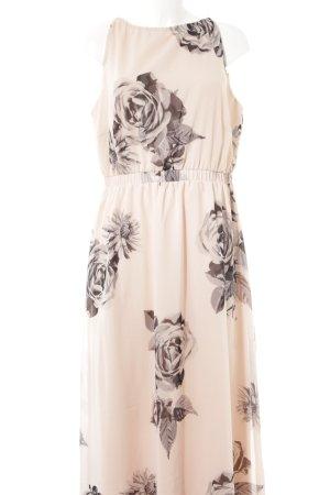 Bodyflirt Maxikleid rosé florales Muster Romantik-Look