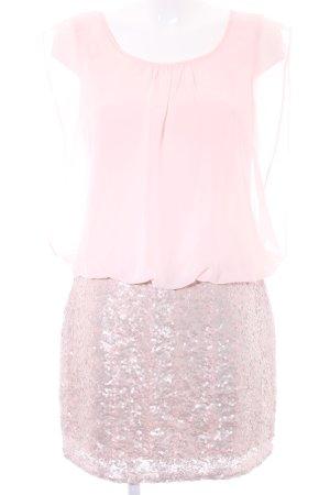 Bodyflirt Abito con paillettes rosa chiaro-color oro rosa stile festa