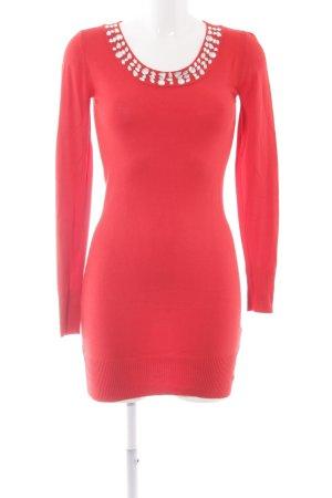 Bodyflirt Sweaterjurk rood casual uitstraling