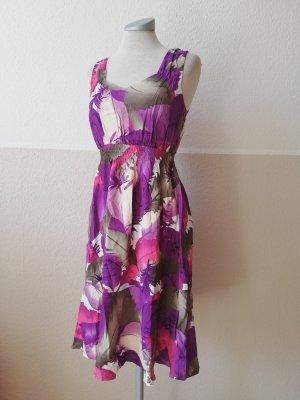 bodyflirt Sommerkleid 100 % Viscose Gr. 34 XS lila Kleid knielang