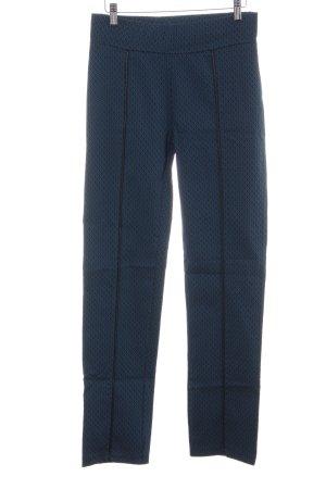 Bodyflirt Stoffen broek blauw grafisch patroon zakelijke stijl