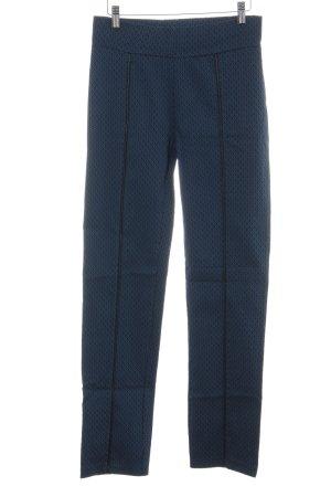 Bodyflirt Stoffen broek blauw-zwart grafisch patroon klassieke stijl
