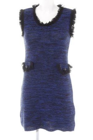 Bodyflirt Strickkleid dunkelblau-schwarz meliert extravaganter Stil