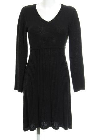 Bodyflirt Gebreide jurk zwart casual uitstraling