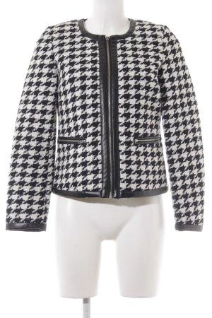 Bodyflirt Overgangsjack wit-zwart pied-de-poule patroon klassieke stijl
