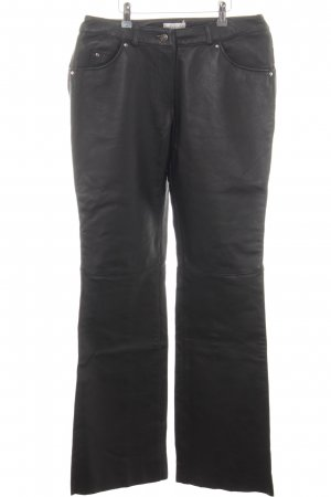Bodyright Leather Trousers black casual look