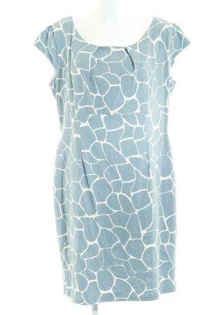 Bodyright Minikleid blassblau-weiß abstraktes Muster Casual-Look