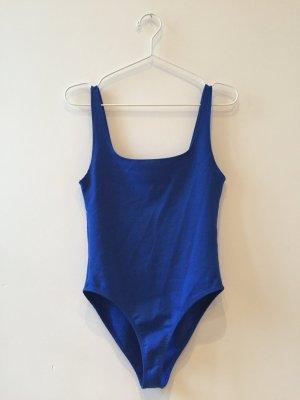 Zara Tank Top blue-neon blue cotton