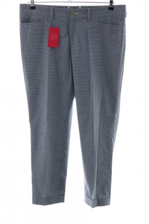 Bogner Suit Trouser blue-white graphic pattern business style