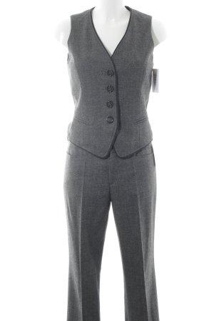 Bogner Gilet de costume gris foncé-gris clair motif pied-de-poule