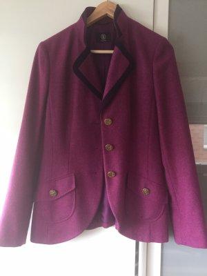 Bogner Blazer de lana magenta-púrpura