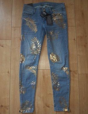 Bogner Fire + Ice 7/8 Length Jeans steel blue cotton